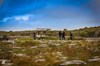 Poulnabrone Dolmen ősi temetkezési hely Burren régió közepén