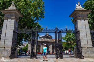 Buen Retiro bejárata a Puerta del Alcala felől