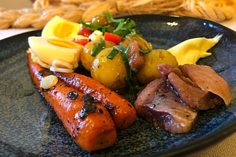 Karamellisoidut porkkanat