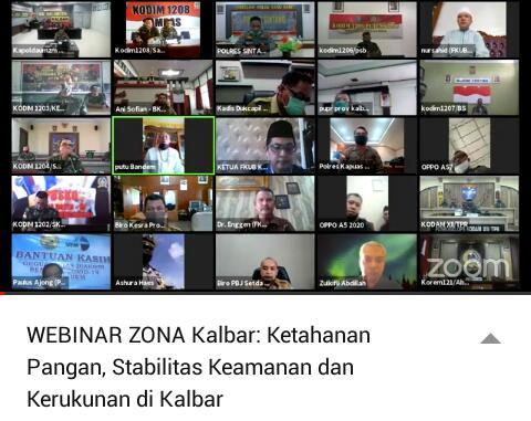 Webinar Kalbar, Menjaga Ketahanan Pangan, Stabilitas Keamanan dan Kerukunan di Kalbar