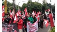 DPP GMNI menggelar aksi tolak Omnibus Law Cipta Lapangan Kerja.