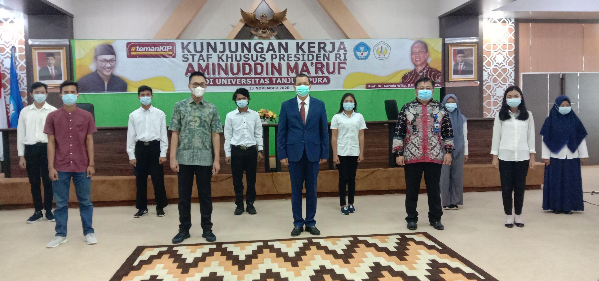 Staf Khusus Presiden RI, Aminuddin Ma'ruf mengunjungi Kampus Universitas Tanjungpura Kota Pontianak, Kalbar, Jumat 20 November 2020