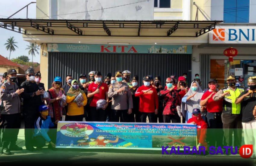 Magikan Masker, Forum Budaya Merah Putih juga Ajak Masyarakat Tak Bakar Lahan
