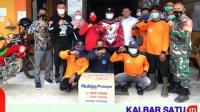 Tangani Karhutla, Sujiwo Bantu Mesin Pompa Air ke Desa Limbung