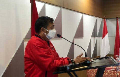 Lasarus saat membuka Rapat Kerja Cabang (Rakercab) PDI Perjuangan serentak secara virtual pada Sabtu (19/6/2021).