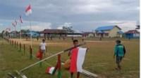 Spirit HUT RI ke-76, Pasang Ratusan Bendera Merah Putih di Desa Sasan Pedalaman Kalbar