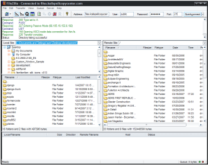 Uploading to FTP with Filezilla