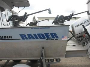 Raider text on fishing boat