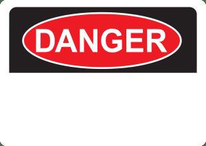 10x14 Plastic Sign Danger Blank