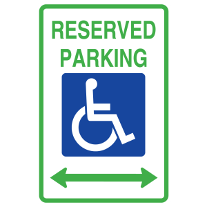 Stock Signs - Reserved Hanicap Parking Doubel Arrow