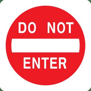 12x12 - .032 Gauge Aluminum - Do Not Enter