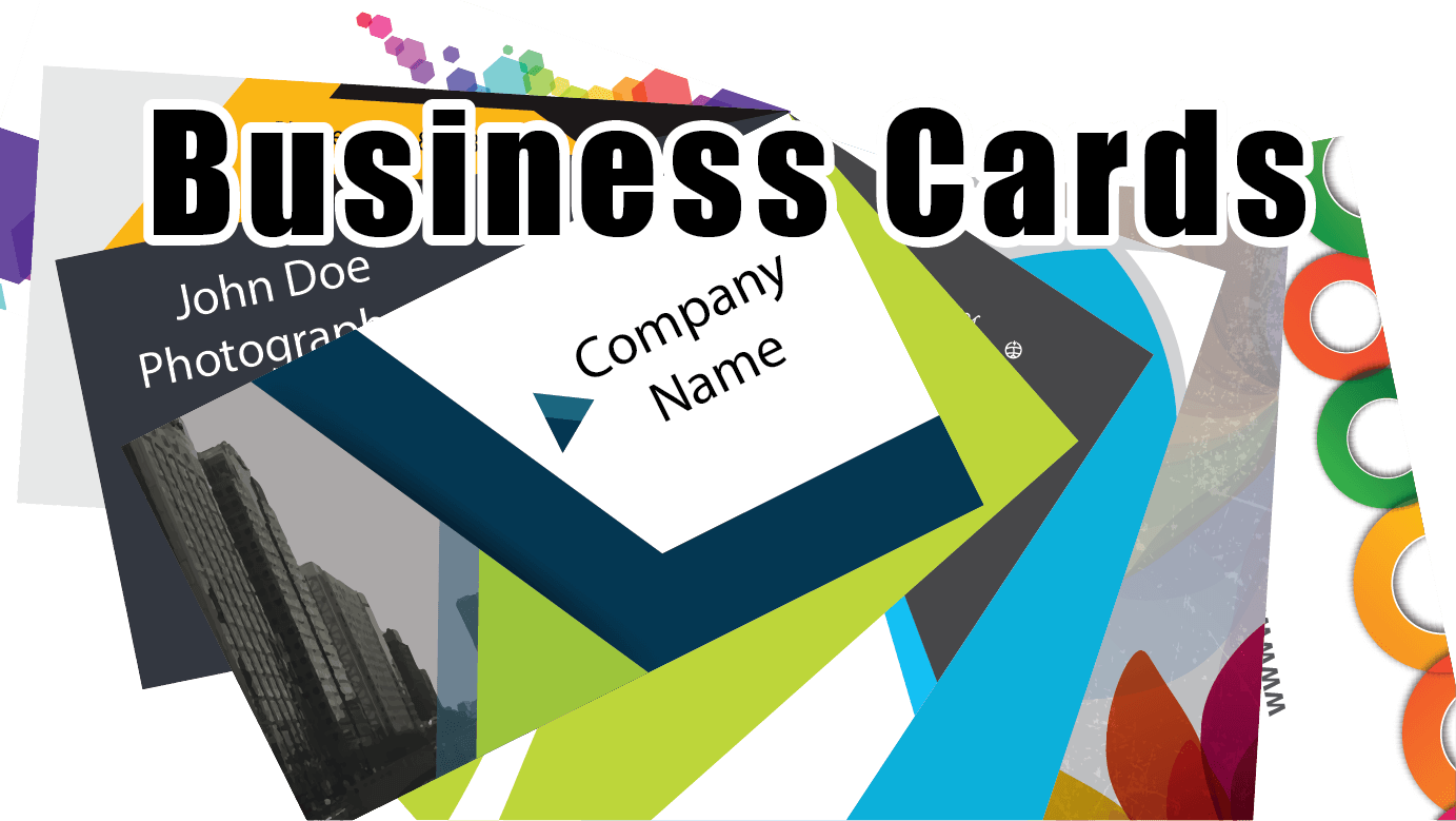 business cards array out