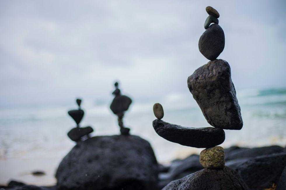 zen stones.  Image by Disha Sheta.