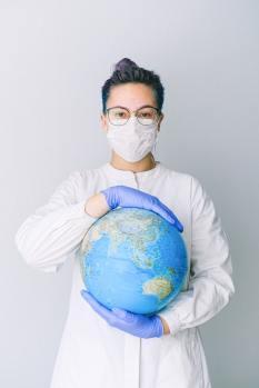 global pandemic. Photo by Anna Shvets.