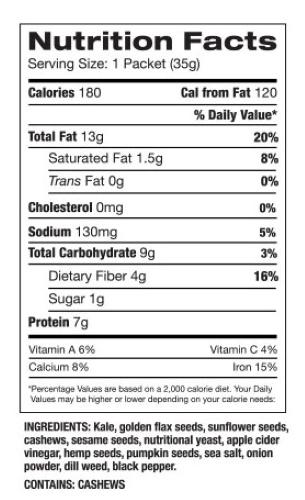 Kale Cracker Info