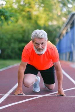 Keep exercising to counter aging. By Anna Shvets.