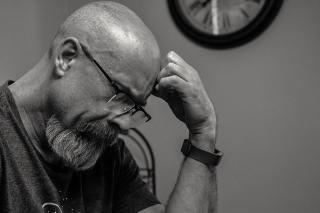 Man Thinking. Image by Brett Sayles.