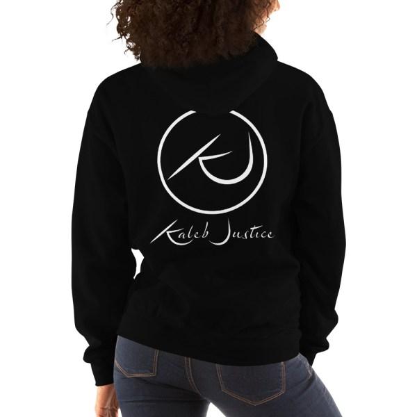 Kaleb Justice Brand Black Hoodie Back Womens