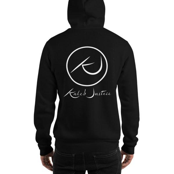 Kaleb Justice Brand Black Hoodie Back