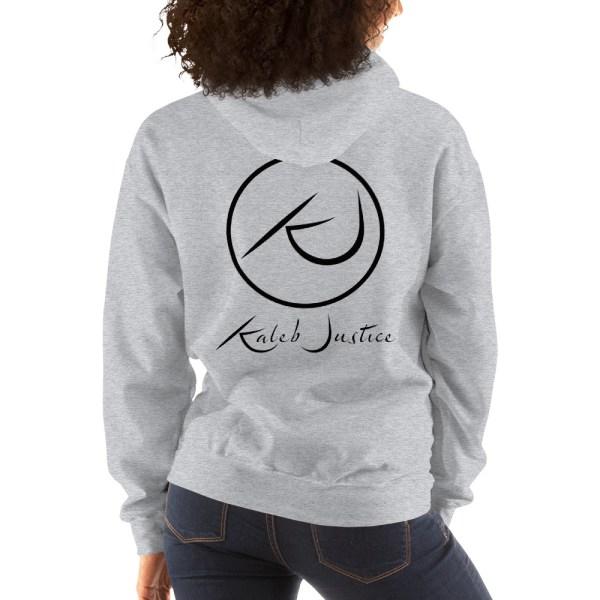 Kaleb Justice Brand Grey Hoodie Back Womens