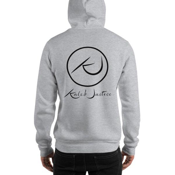 Kaleb Justice Brand Grey Hoodie Back