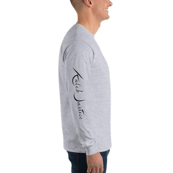 Kaleb Justice Brand Grey Long Sleeve T-Shirt Side