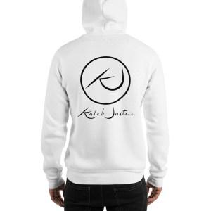 Kaleb Justice Brand White Hoodie Back