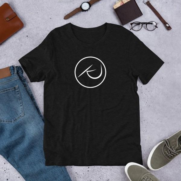KJ Design Black T-Shirt Product Mockup