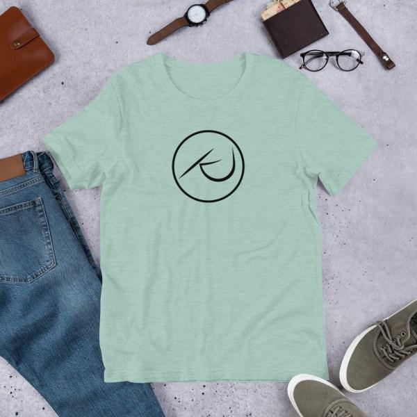 KJ Design Dusty Blue T-Shirt Product Mockup