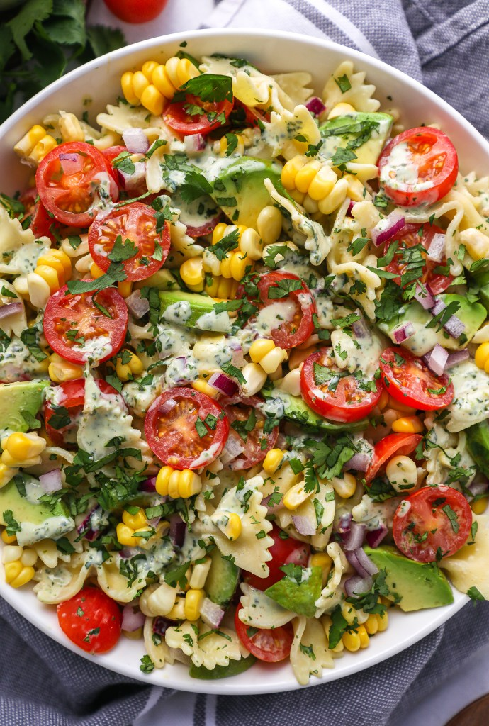 Give this tasty cilantro lime pasta salad a try at your next potluck and barbecue! It's falvorful, easy to make and healthier for you too!