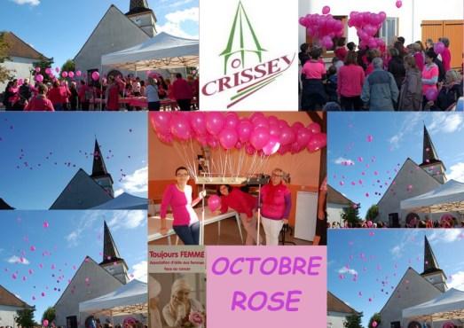 Mairie de Crissey aux couleurs d'Octobre Rose