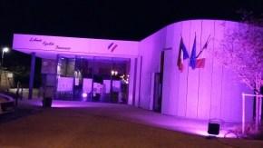 Mairie de Virey aux couleurs d'Octobre Rose