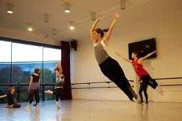 Danseuses du jeune ballet du Conservatoire du Grand Chalon. Au premier plan Laure Buisson