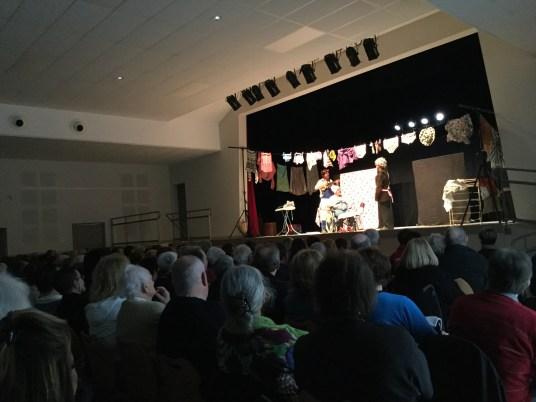 Les Totors sur la scène de l salle des fêtes de Châtenoy-le-Royal à l'occasion de la Journée des aidants 2017