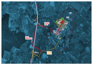 Saônéor est situé à proximité de l'A6. De nouvelles voiries sont en projets pour faciliter encore les accès.