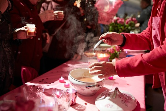 Une soupe servie lors du festival des soupes 2017 de Chalon sur Saône