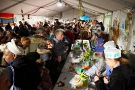 Une grand file d'attente pour le festival de la soupe de Chalon-sur-Saône