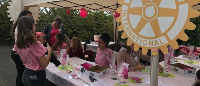 Le rotary club au profit d'octobre Rose