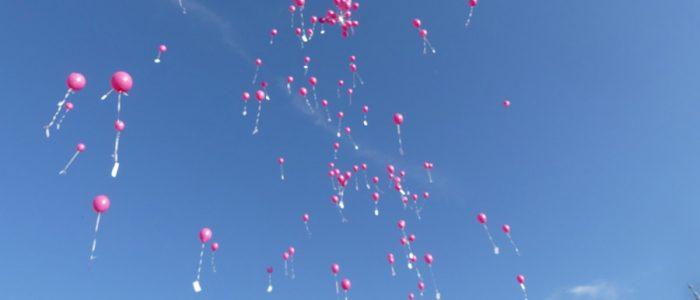 Laché de ballon à Rully pour l'octobre rose