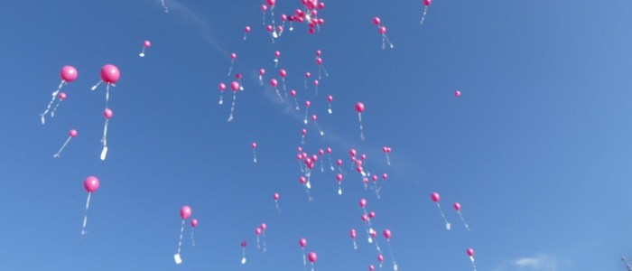 Laché de ballon à Rully pour l'octobre rose