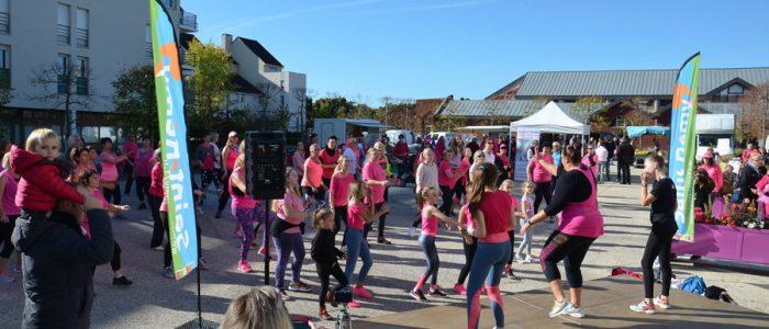 Chorégraphie pour la lutte du cancer du sein à Saint marcel
