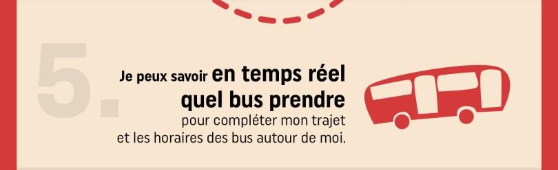 yvon affiche en temps réel les horaires de bus