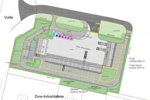 Plan de la nouvelle dechetterie du Grand Chalon à Châtenoy-le-Royal