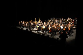 L orchestre national de Lyon comme concert inaugural dans le nouveau grand espace de l'Espace Des Arts