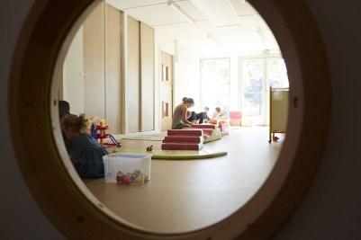 salle de motricité de l'espace petite enfance le Lac du Grand Chalon