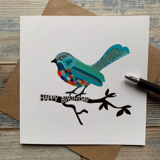 Artistic Bird Birthday Card