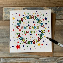 Eat Cake Birthday Card