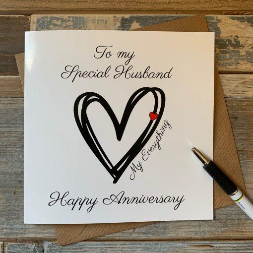 Husband My Everything Anniversary Card