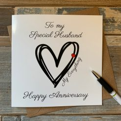 Husband My Everything Anniversary Card