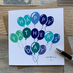 Balloons Design Fathers Day Card